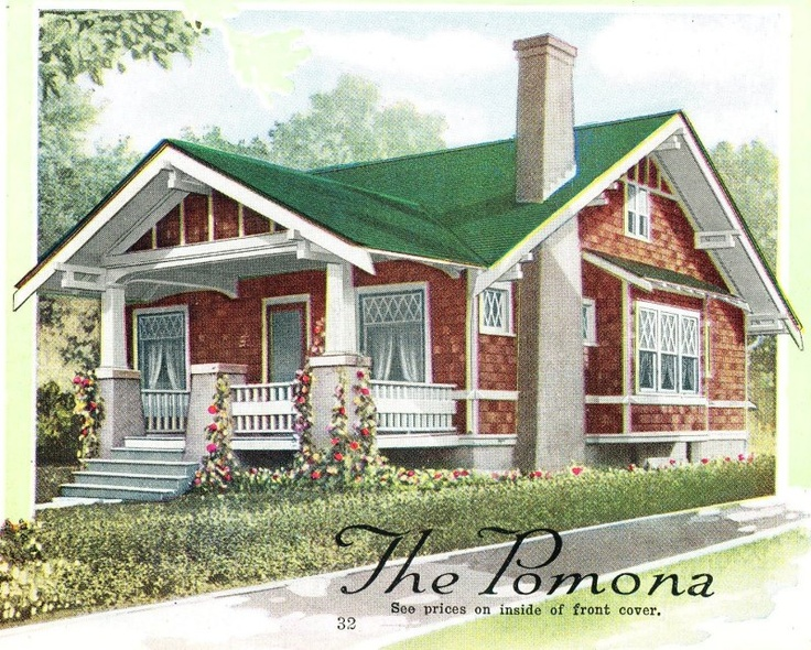 The aladdin pomona as seen in the 1919 catalog house for Craftsman style homes in okc