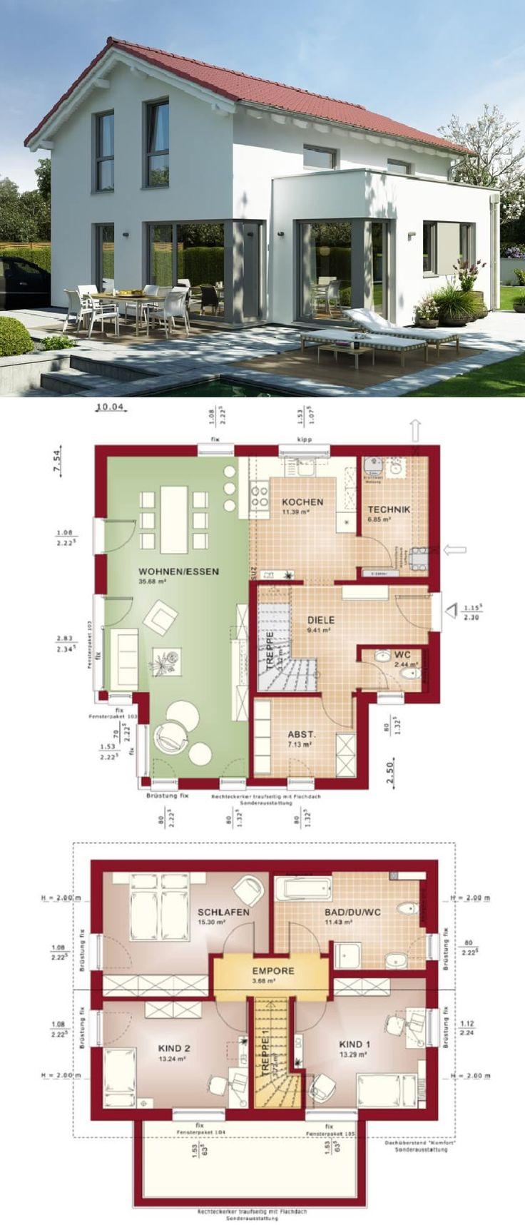 Modernes Haus mit Satteldach Architektur u0026 Erker