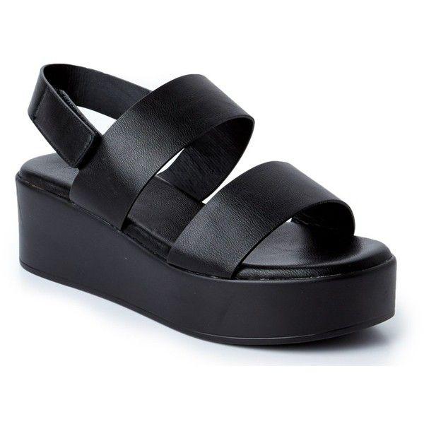 Black platform sandals, Platform shoes