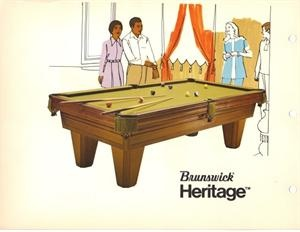 Beautiful Brunswick Heritage This Was A Higher End Pool Table In The 1970u0027s We Sold  This Table New For $1550 $1800. The Table Was Snooker Pocket Mainly In Cu2026  ...