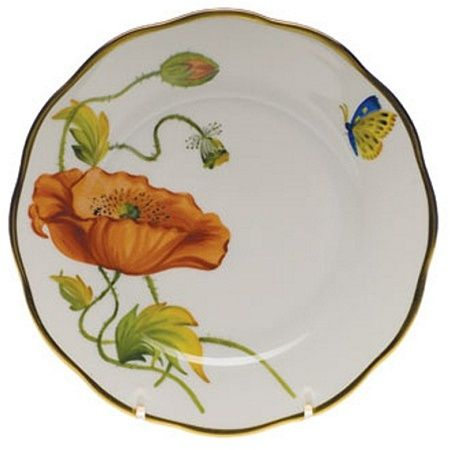 Herend American Wildflowers California Poppy Bread & Butter Plate