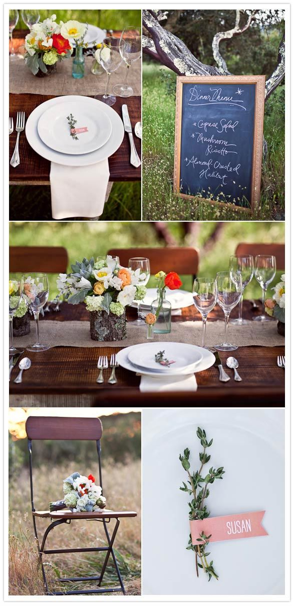 backyard wedding table setting (up-close details). sweet, simple, and lovely!