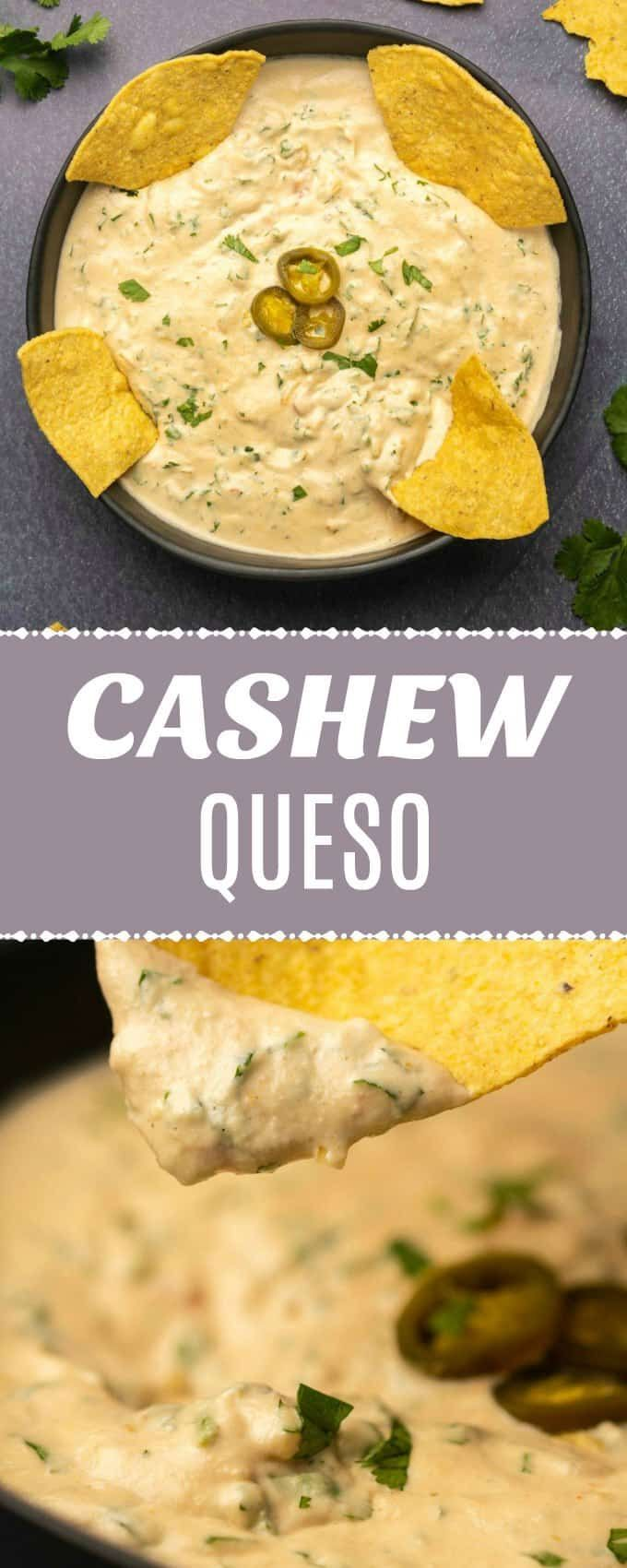This cashew queso is creamy, spicy and cheesy and the best thing ever with some …