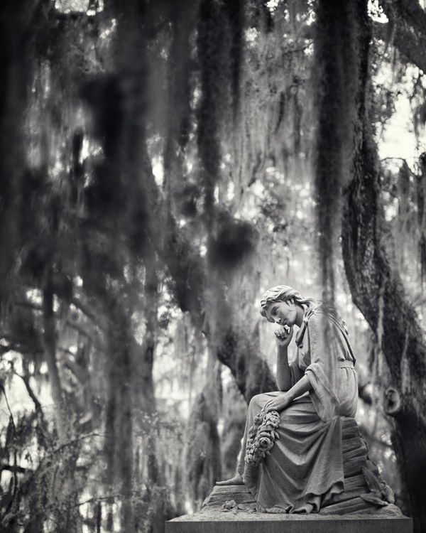 the hauntingly beautiful Bonaventure Cemetery in Savannah, Georgia. Southern Gothic. Irene Suchocki
