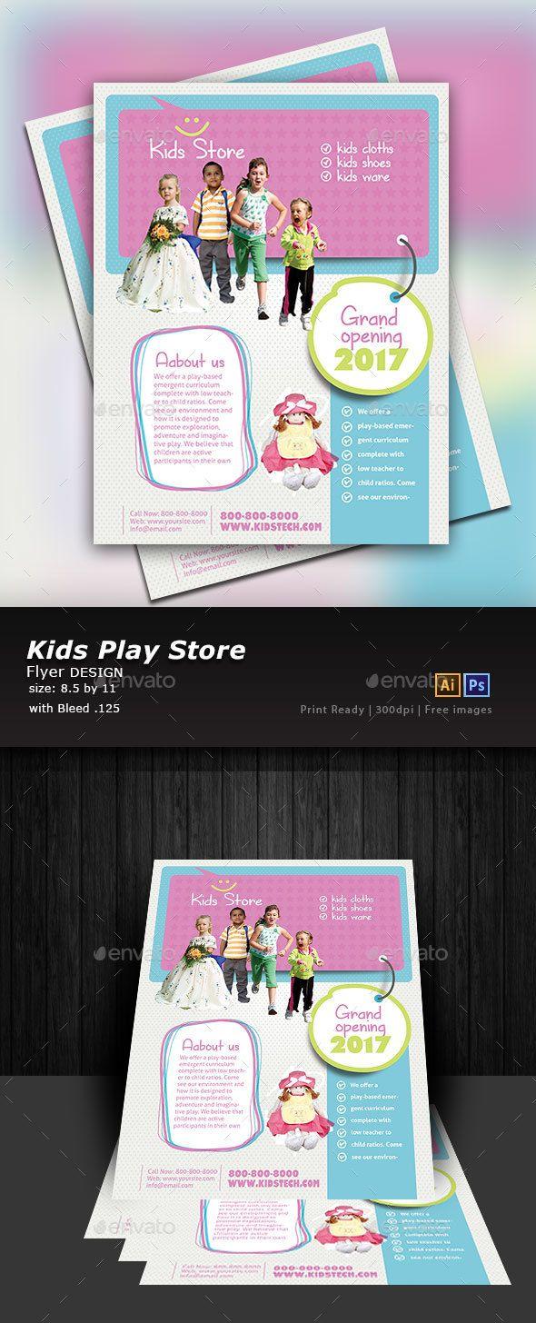 Kids Store Flyer Template