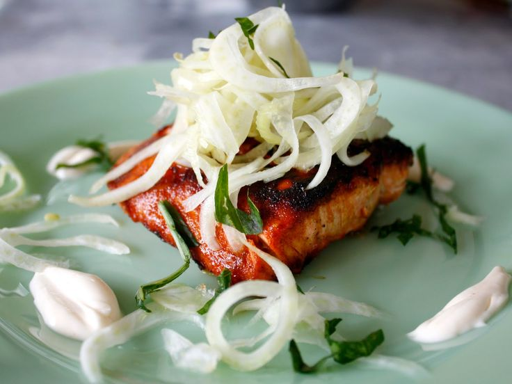 A Crafty Lass: Smoky Grilled Salmon with Pickled Fennel