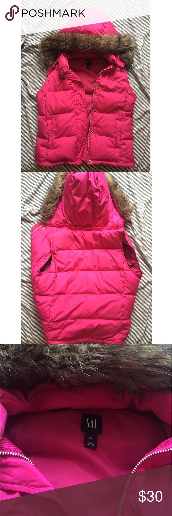 Gap coat size xs Liked new size xs color fucsia GAP Jackets & Coats Utility Jackets