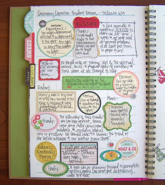 Sketch notes >> Lovely Boxes around important thoughts