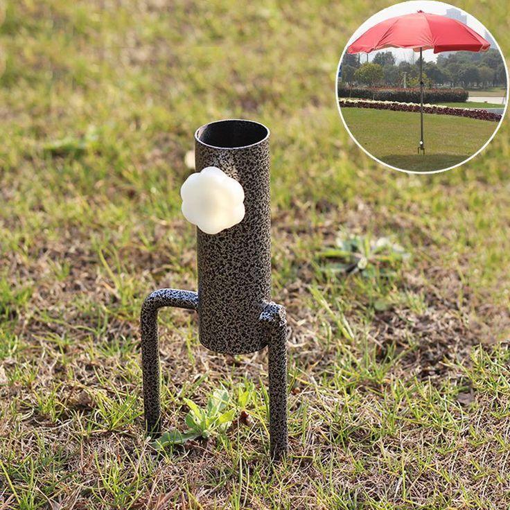 Hot Ground Spike High Strength Alloy Umbrella Stand Flags Banner Pole Holder | eBay