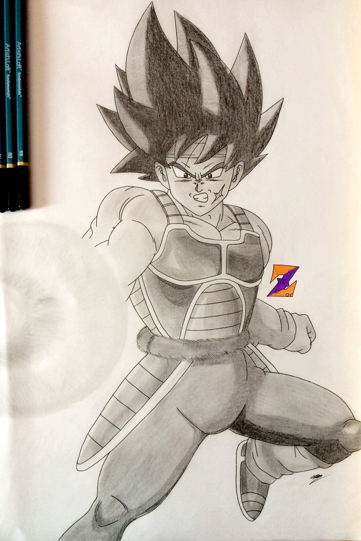Bardock from Dragon Ball Z - Father of Goku by ZorArt