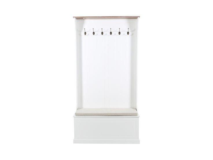 NATHALIE Hallmöbel 95 Vit/Ask i gruppen Inomhus / Förvaring / Hallmöbler hos Furniturebox (100-90-117692)