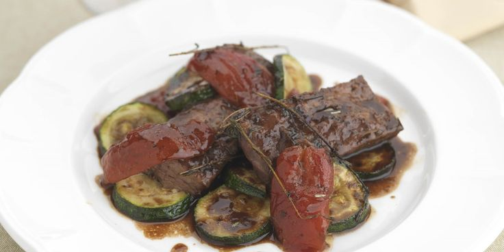 Beef cheeks are marinated in red wine and served with provencal vegetables in this sumptuously rich braised beef recipe from chef Geoffrey Smeddle