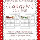 UPDATED May 2014!  This set contains 12 *EDITABLE* calendars for the 2014-2015 school year {July 2014 to June 2015}. This is PERFECT!!!!