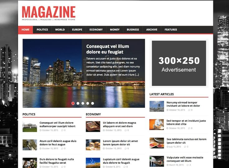 12 best Best Free News-Magazine Theme images on Pinterest | Free ...