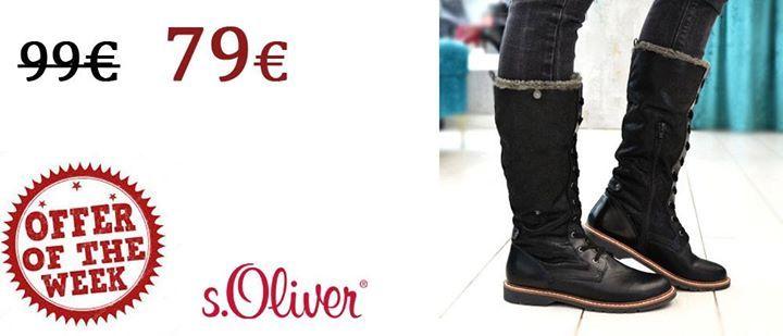 Offer of the week! s.Oliver μπότα 79..από 99 μόνο για λίγες ημέρες!  http://bit.ly/2i4K3rY   Τηλεφωνικές παραγγελίες 2104953803   www.ninadamas.gr  Δωρεάν μεταφορικά και αντικαταβολή άνω των 60  Πληροφορίες για παραγγελίες --> http://bit.ly/2zfuqrJ #ninadamas #shoes #soliver #fw2017