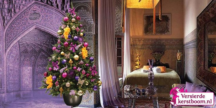 De Marrakech Xmas is een stijlvolle versierde kerstboom, gedecoreerd in oranje, geel, goud en paars tinten. Sinds de dames van Sex & the City het prachtige Marrakech onder de aandacht brachten is deze stijl een echte trend! Met deze boom haalt u de Arabische sferen in huis. De uitstraling van deze boom is chique, u waant zich in de wereld van 1001 nachten. Een stijlvolle boom die tijdens de decembermaanden voor een extra warm gevoel zorgt.