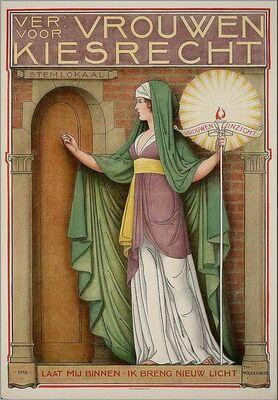 Theo Molkenboer, Women's Suffrage Poster, Netherlands, 1918
