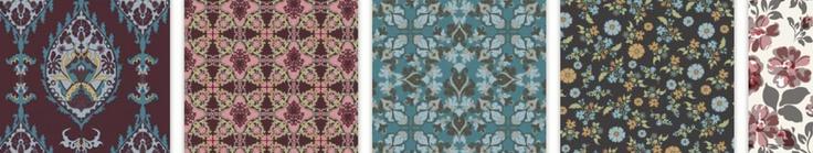 continuo- real- colores apagados, florales