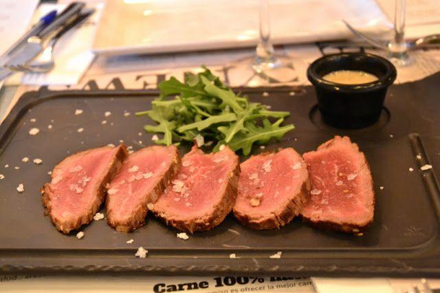 Tataki de ternera 'La Finca' de Steak Burger en Madrid