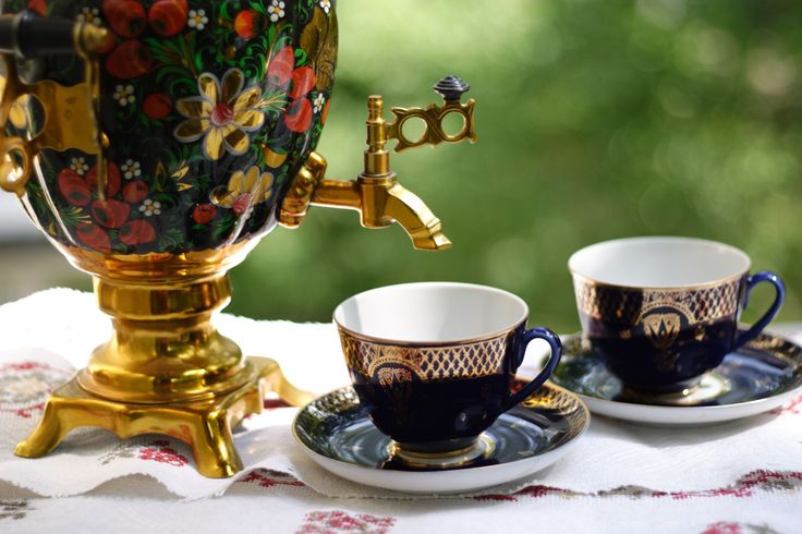 This recipe for Russian spiced tea (pryanyi chai) is traditionally served from gleaming samovars but any saucepan will do.