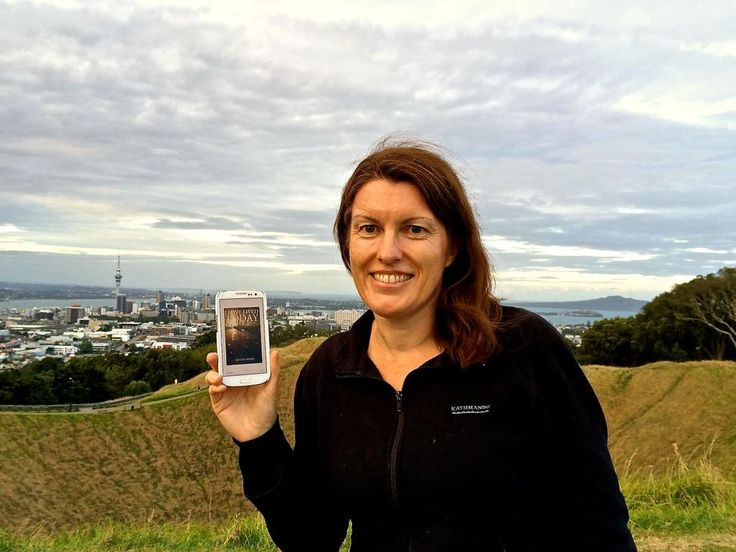 Sarah, of travel blog Bumble Bee Trails, in her native #NewZealand on the verdant slopes of Mt. Eden, Auckland.