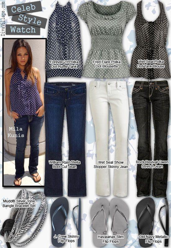 California Style Clothing   Mila Kunis California Style   Celebrity Fashion Style and Trends