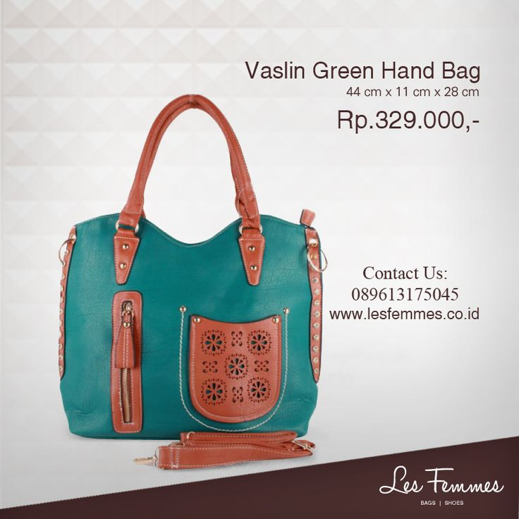 Vaslin Green Hand Bag 329,000 IDR #Fashion #Woman #bag shop now on http://www.lesfemmes.co.id/hand-bags/vaslin-green-hand-bag