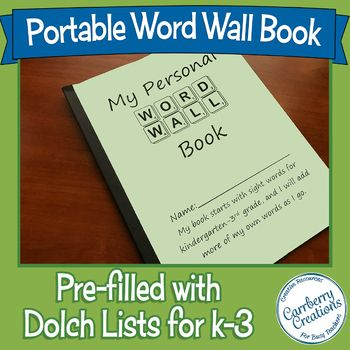 Portable Word Wall Book for Individual Students