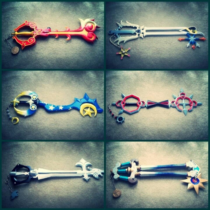 Kingdom Hearts Keyblade collection. Awesome