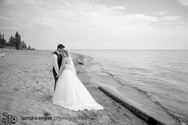 Wedding Portraits at the Beach - Bayfield, Ontario - captured by Sandra Regier - www.sandraregier.com