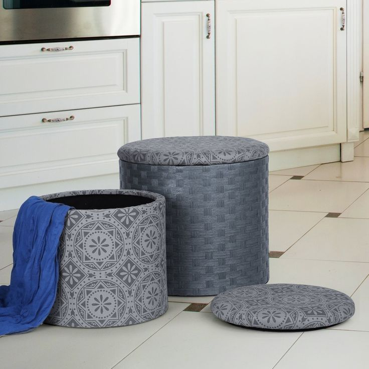 foot rests for living room%0A   Piece Round Storage Ottoman Set  Round Storage OttomanOttomansFoot Rest