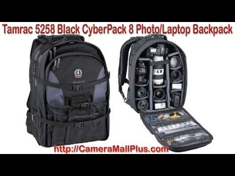 Tamrac 5258 Black CyberPack 8 Photo/Laptop Backpack (Black)