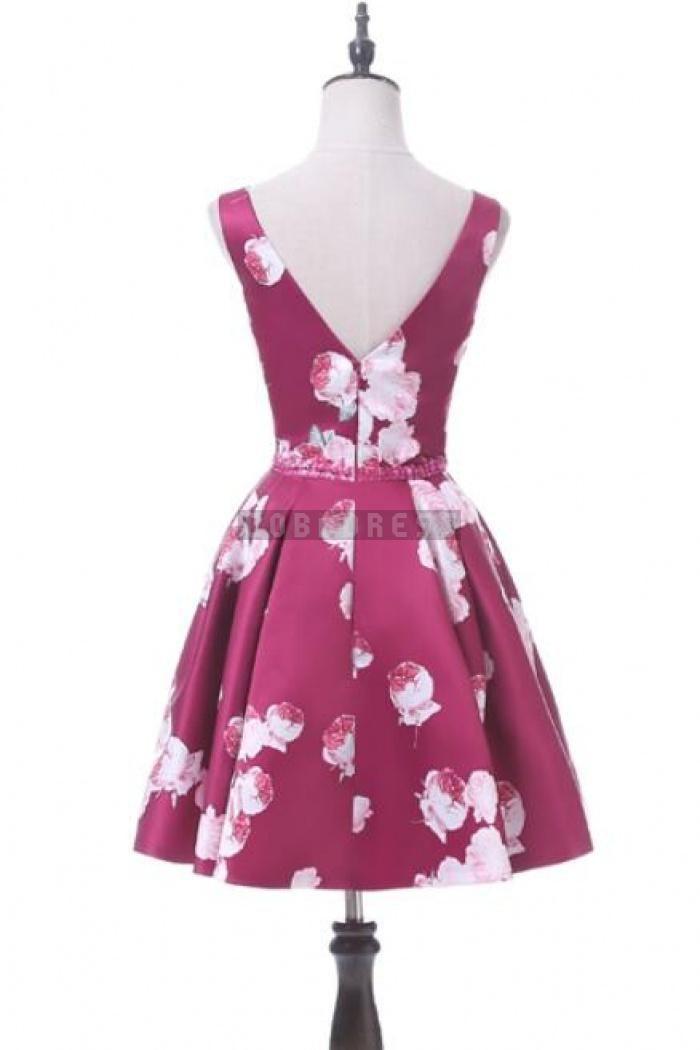 Sexy Short Flower Printed Prom Dress,Sexy Short Prom Dress,Homecoming Dress - Shedressing.com