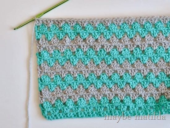 Granny Stripe Blanket {Free Pattern} from Maybe Matilda