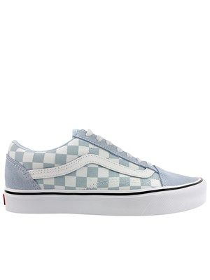 721aa56f8d4882 Give that classic skate look a pastel update with these gorgeous baby blue  Vans Old Skool trainers. With their famous checkerboard print teamed with  super ...