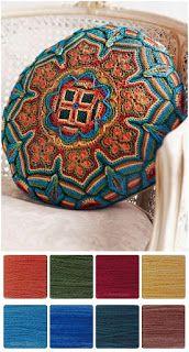 ColourSpun: ColourSpun Colourways - Beverly's Cushion