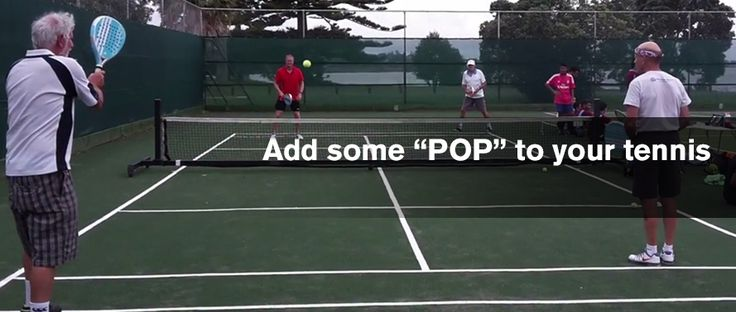 Keep it fun and entertaining by adding some POP to your tennis