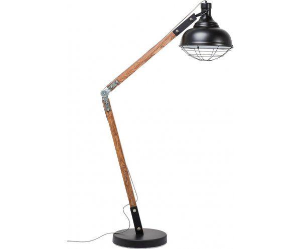 Rocky Lampa Stojąca Drewno Metal 175cm - 1