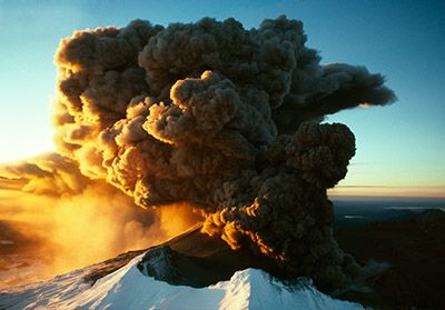 Sunset eruption, Mt Ruapehu by Craig Potton for Sale - New Zealand Art Prints