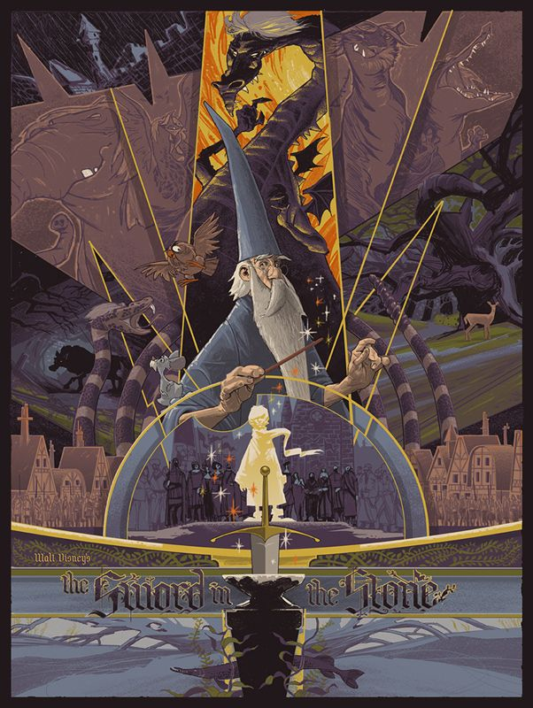 Merlin l'enchanteur. | 21 réinterprétations de dessins animés Disney