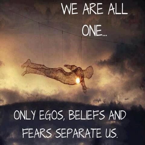 our ego is our dark or evil side and our conciousness is our light side........ choose one and balance :)