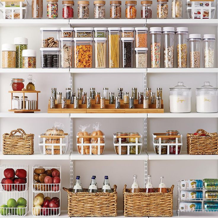 """Our modular Good Grips POP Canisters by OXO are designed to stack securely to create a completely customized and space-efficient solution for food storage in your pantry or kitchen cabinets.  They're ideal for preserving the freshness of all your favorite dry food staples.  The innovative lids are designed to provide the highest level of airtight seal and are a snap to open; simply push down on the button and it """"pops"""" up so you can remove the lid."""