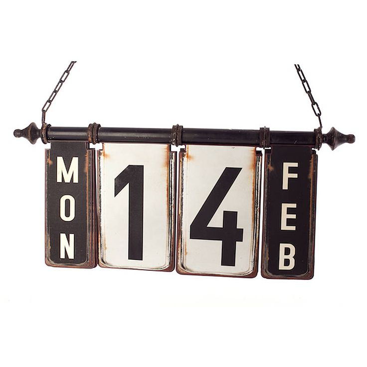 Hanging Perpetual Calendar contemporary artwork