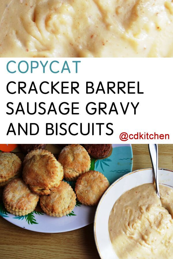 Made with biscuit mix, milk, flour, salt and pepper, spicy sausage | CDKitchen.com