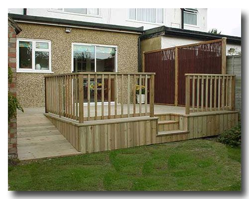 Decks- I like the way the bottom is skirted and the ramp and how the steps are encased.