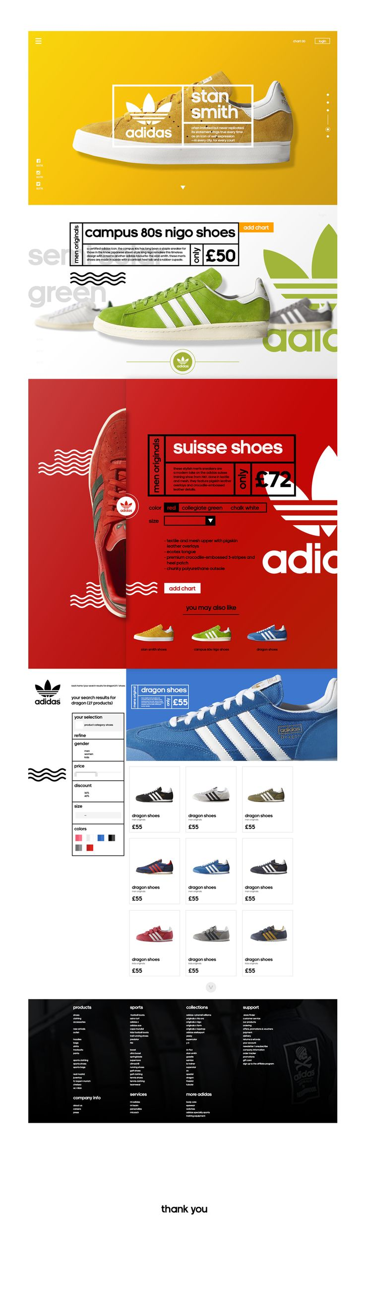 Adidas - Redesign Concept on Behance
