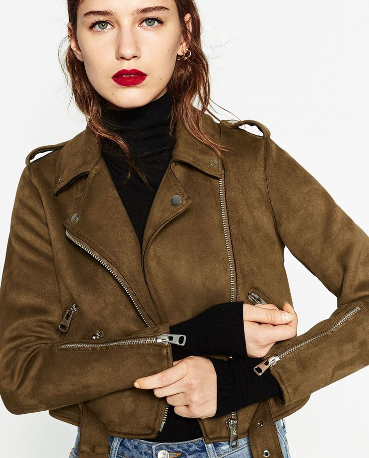 ZARA - COLLECTION SS/17 - SUEDE EFFECT JACKET