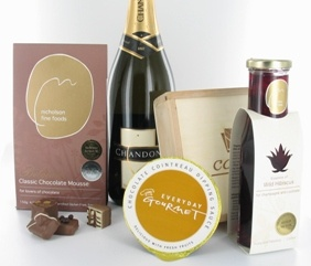 Sparkling, Chocolates & Flowers - Corporate Christmas Gifts