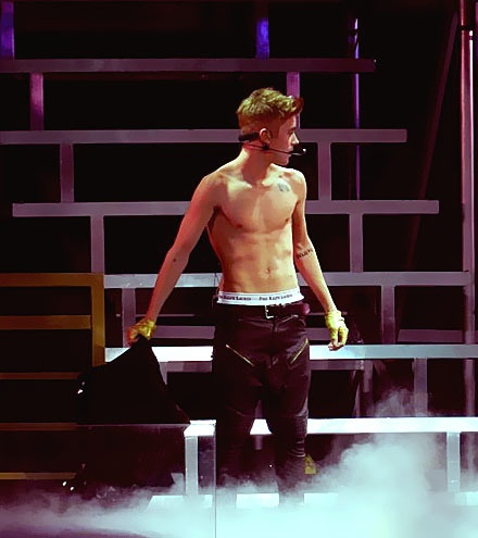 BELIEVE TOUR. He better take off his shirt at the concert I am going to ;)
