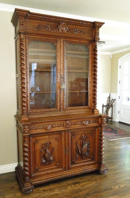 Antique French Hunt Cabinet Hutch Buffet Bookcase~Louis XVI~Dark Oak~Carving - 46 Best Ideas For The House Images On Pinterest Antique